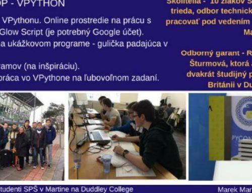 PYTHON DAYS – Informatická konferencia študentov SPŠ Martin a GVPT Martin