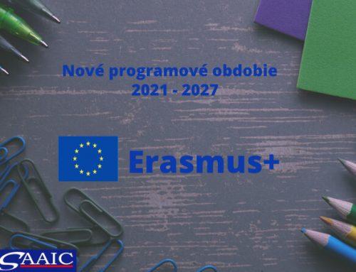 Novinky programu Erasmus +